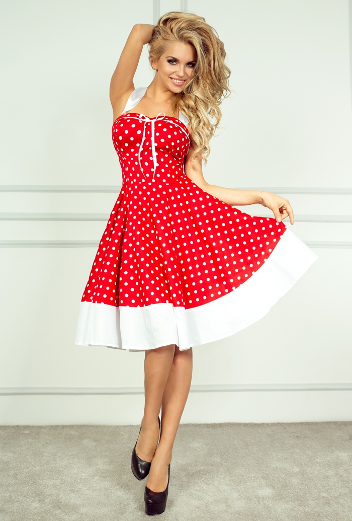 rockabilly pin up czerwona sukienka 239 3