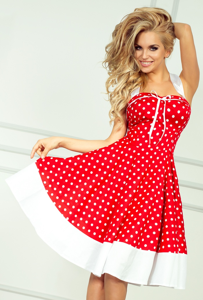 rockabilly pin up czerwona sukienka 239 0