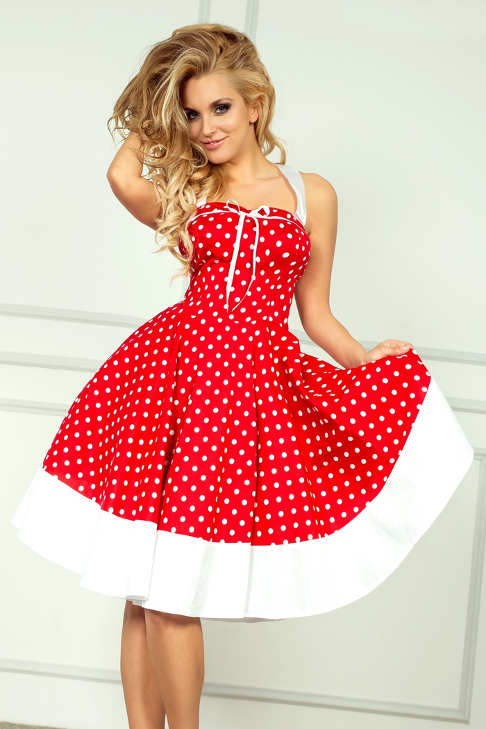 rockabilly pin up czerwona sukienka 239 4